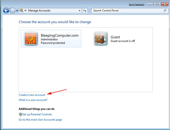 New Windows Admin User