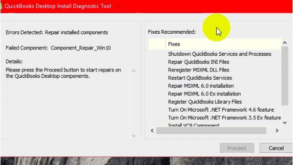 QB connection Diagnostic Tool Fixes List