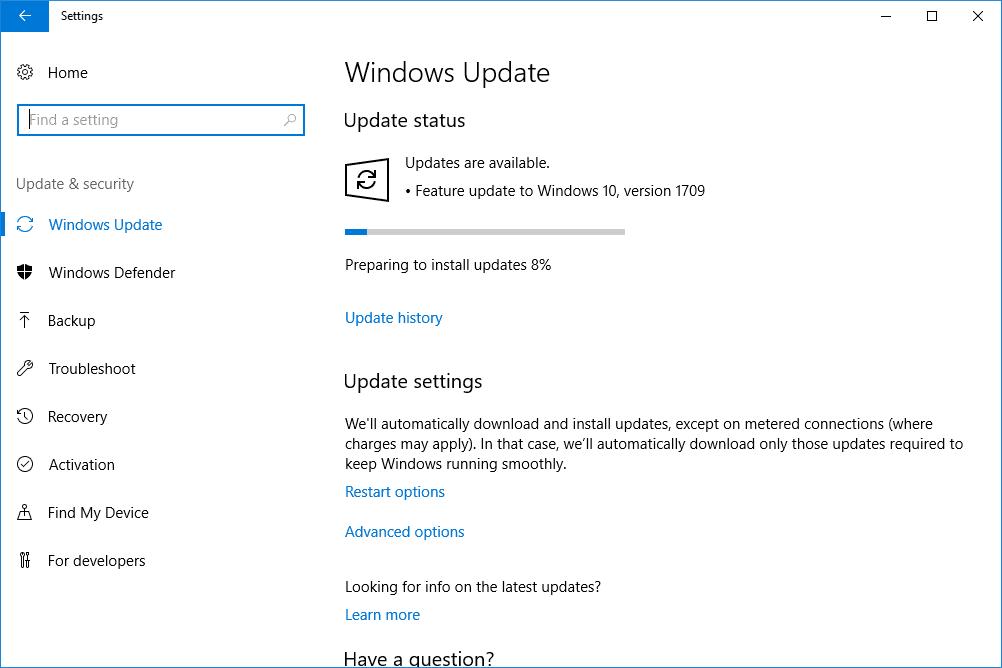 Performing Windows Update