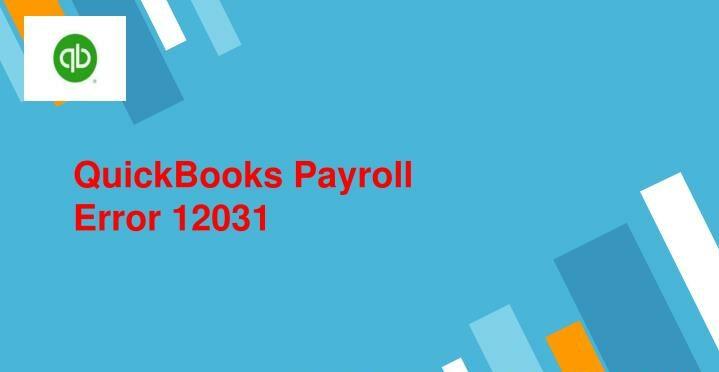 Quickbooks Error 12031