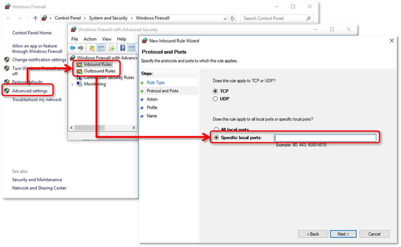 Configuring QuickBooks firewall and security excep