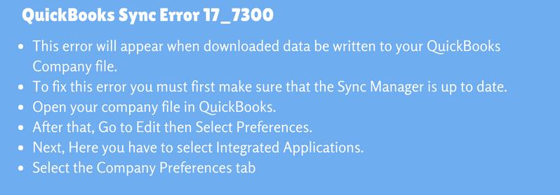 QuickBooks Sync Error 17_7300