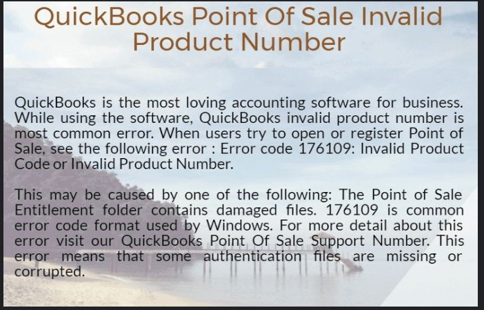 Reasons for Quickbooks pos invalid product number
