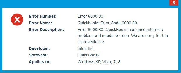 Quickbooks Error 6000 80: All Explained