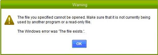 Repair Quickbooks Error The File Exists