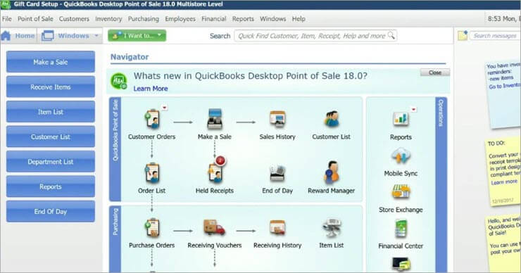 features of quickbooks point of sale