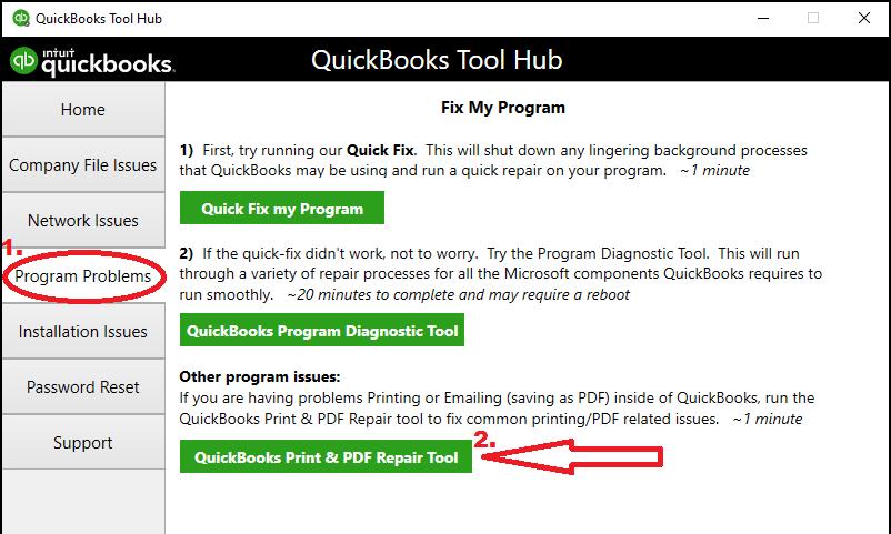 Quickbooks Print and PDF Repair tool