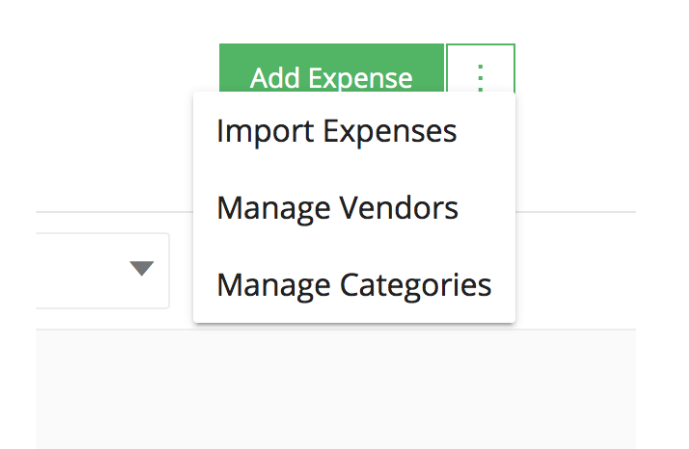Expenses and Vendors
