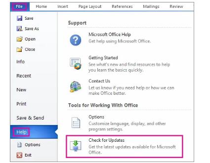 Update Microsoft Outlook