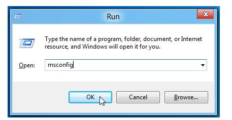 """, write """"Msconfig"""""""