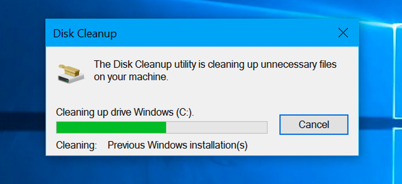 Disk Cleanup tool