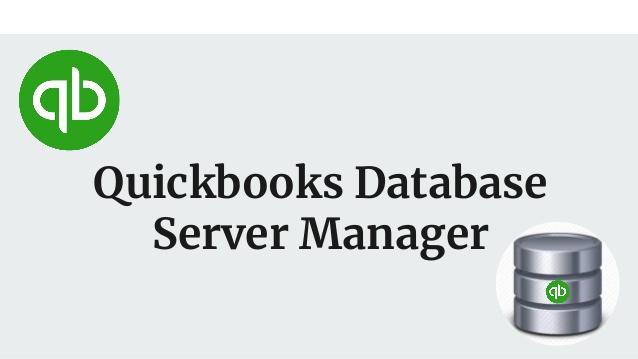 QuickBooks Database Server Manager Text