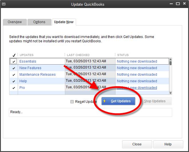 Update your Quickbooks Software