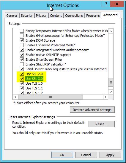 Mark 'SSL2.0 and SSL3.0'
